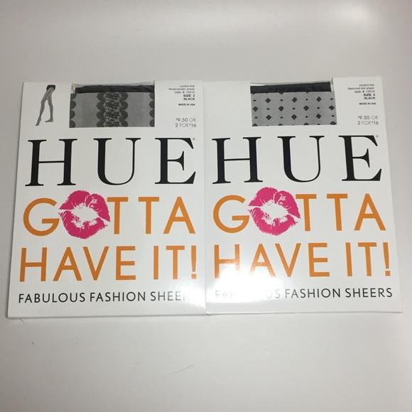 2fa16999b6c 2 pairs HUE gotta have it fashion sheers A10